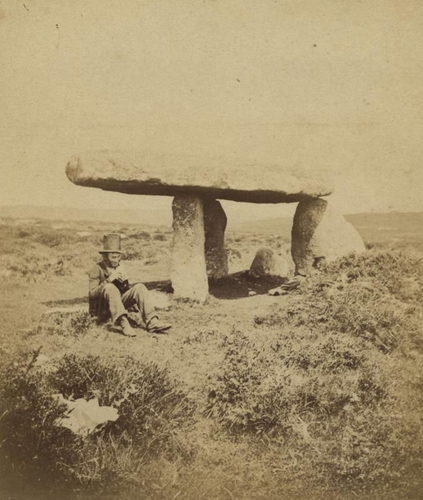 Lanyon Cromlech, c.1860s. //© Cornwall Record Office.//